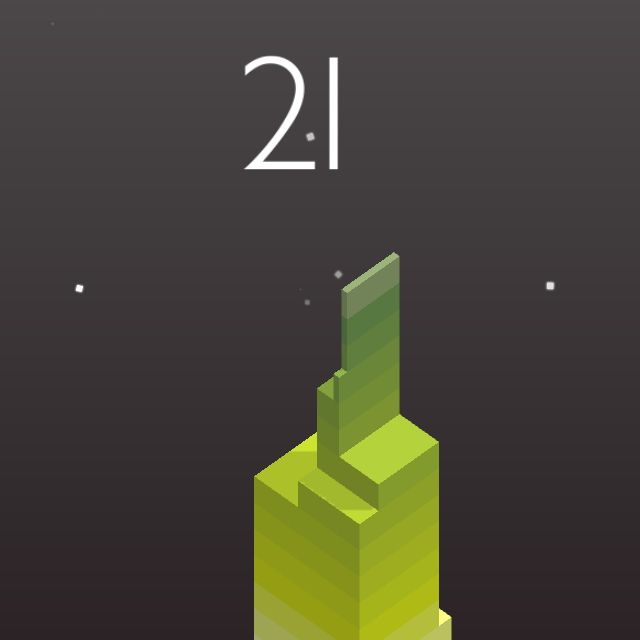 I scored 21 points in #Stack https://itunes.apple.com/app/stack/id1080487957