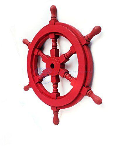 Nautical Handcrafted Wooden Ship Wheel - Home Wall Decor ... https://www.amazon.com/dp/B01DO73WTQ/ref=cm_sw_r_pi_dp_x_j0oHybPCF3RD9