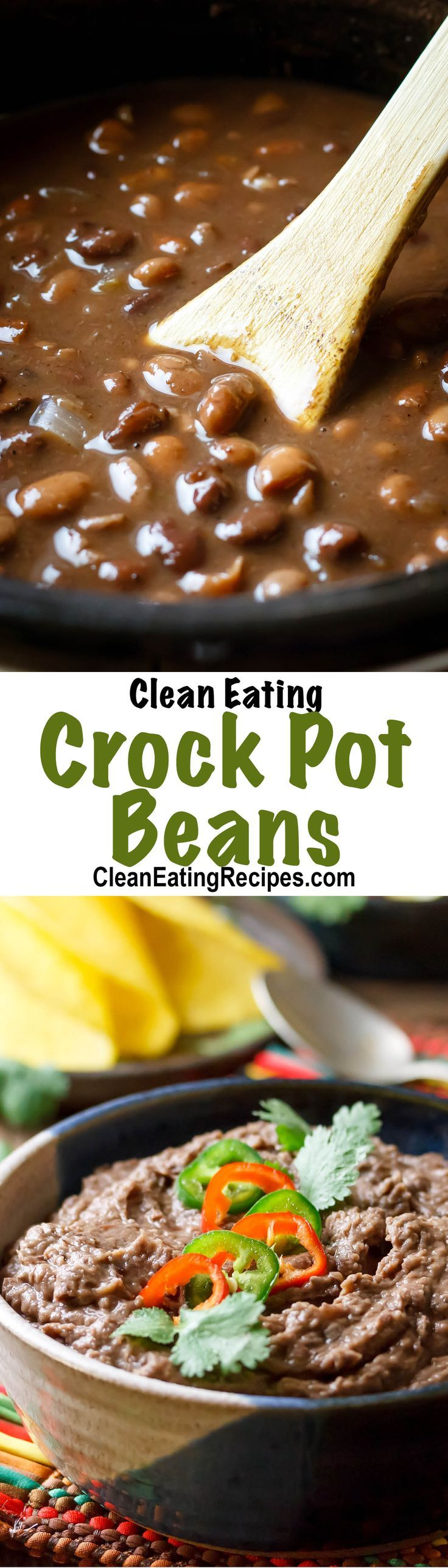 "These are insanely easy to make and taste tons better than canned beans. I love to make a big batch of whatever kind of bean I am in the mood for and then freeze them in individual portions to eat later. I ""refry"" them after I unthaw them, so I can use the beans whole if I want."