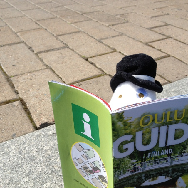 Moominpappa planning his day trip in Oulu. #MoominsinOulu
