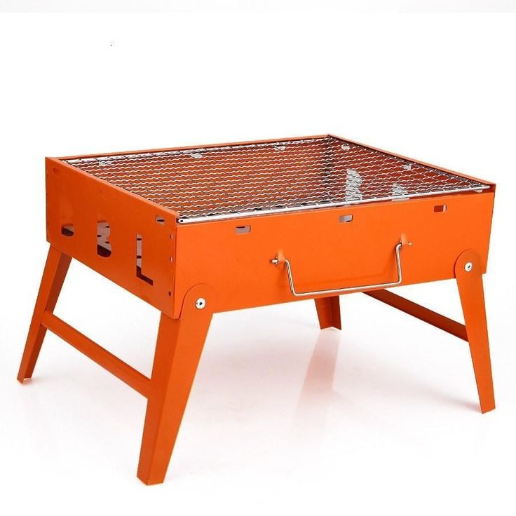 Portable Metal Folding Tabletop Charcoal BBQ Grill 4 Colors