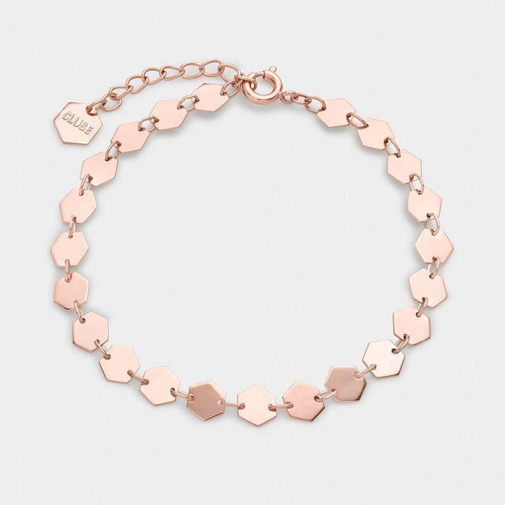 Essentielle Rose Gold All Hexagons Chain Bracelet