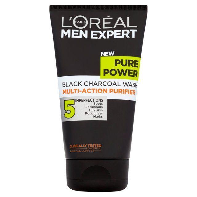 L Oreal Men Expert Pure Power Charcoal Wash 150ml Face Wash For Men Charcoal Face Wash Best Facial Wash