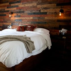 Learn how to make a wood plank wall in your home.
