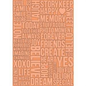 Teresa Collins Embossing Folder - A4 / Beautiful Words