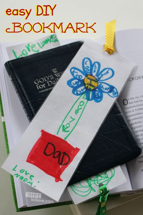 17 best images about father 39 s day on pinterest homemade for Diy bookmarks for guys