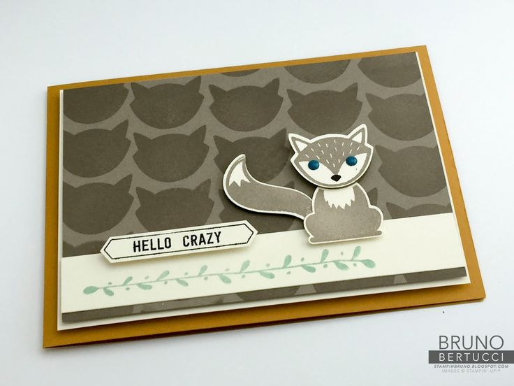 Bruno Bertucci | Stampin Up | stampinbruno | Foxy Friends | Thoughtful Banners | Handmade Card, Stamp Review Crew