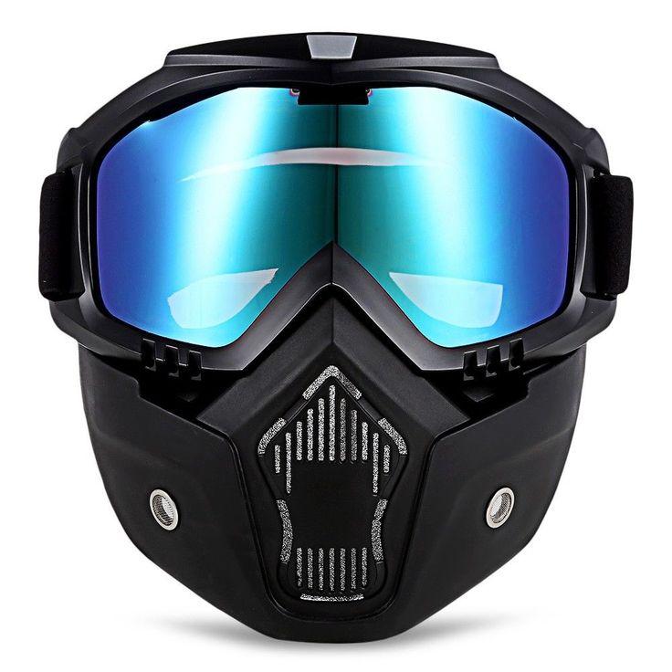 Motorcycle Goggles Helmet Protective Face Shield Bikers Detachable Modular Mask #google #Motorcycle