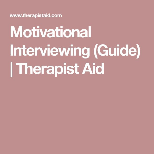 Motivational Interviewing (Guide) | Therapist Aid