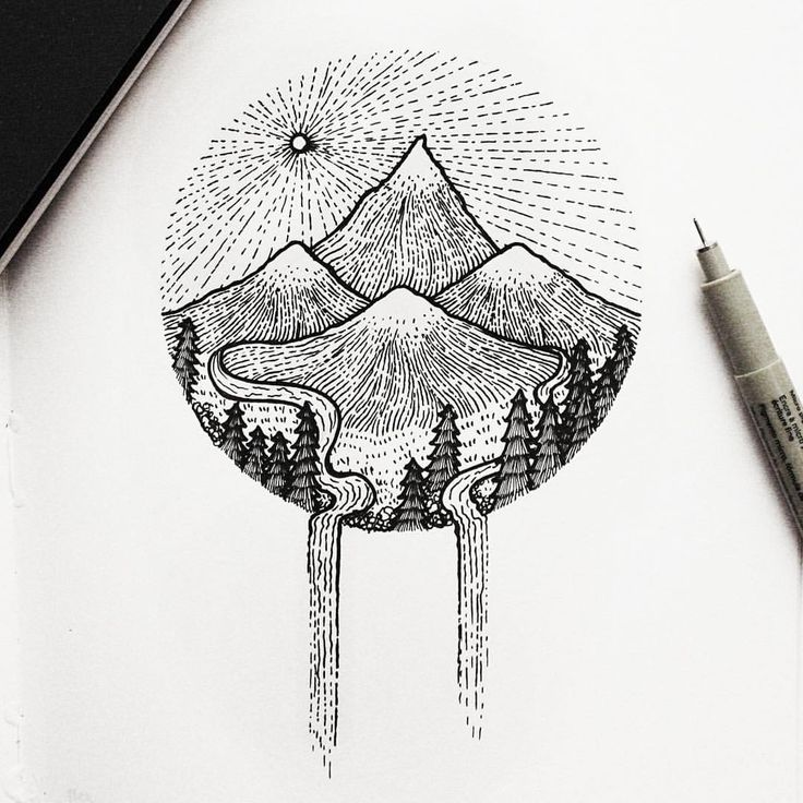 mountains drawing - Google Search