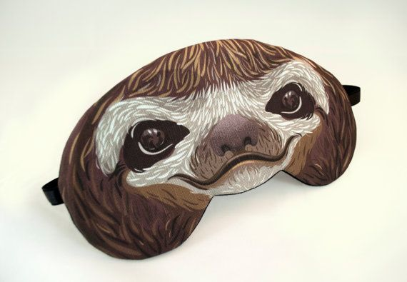 Hey, I found this really awesome Etsy listing at https://www.etsy.com/listing/159203702/sloth-sleep-mask