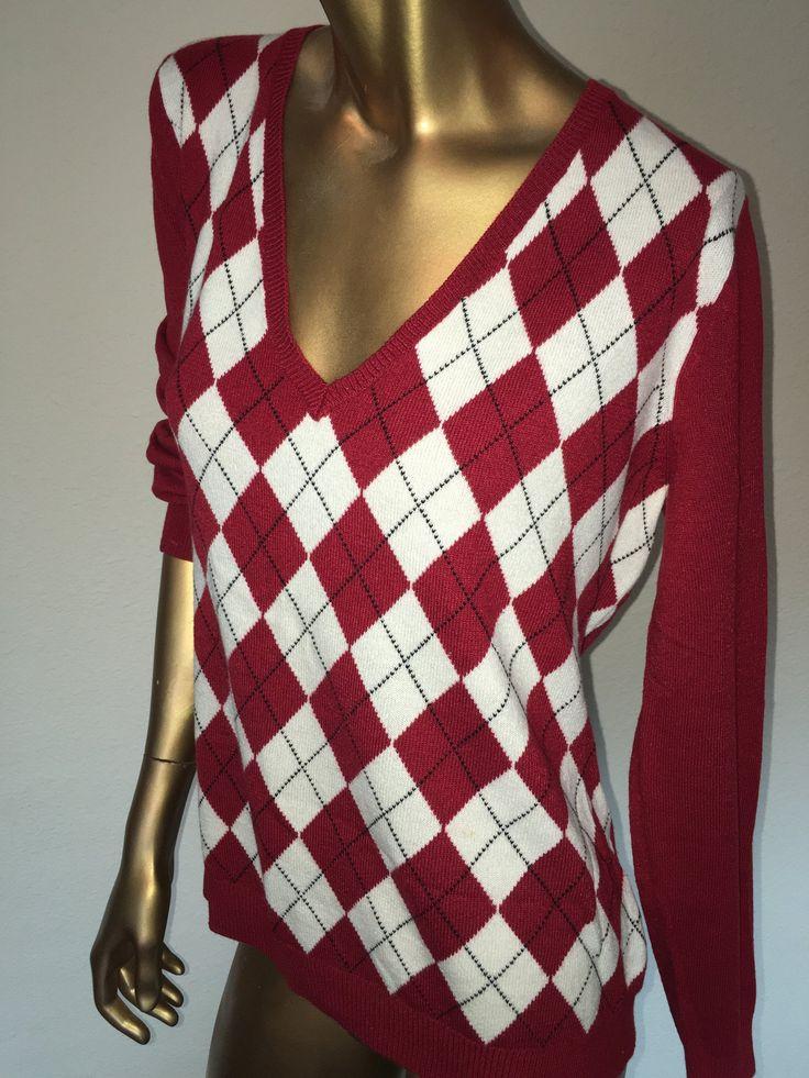 New York and Company Long Sleeve Argyle Sweater Size XL (SKU 000143)