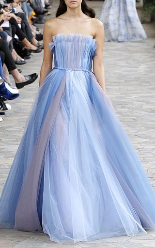 Tulle Multicolor Ball Gown by Luisa Beccaria