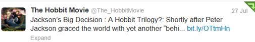 The Hobbit Films to be Split into Three!