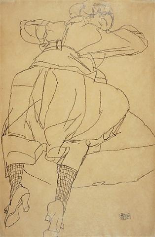 artnet Galleries: Sleeping Woman by Egon Schiele from Galerie St. Etienne