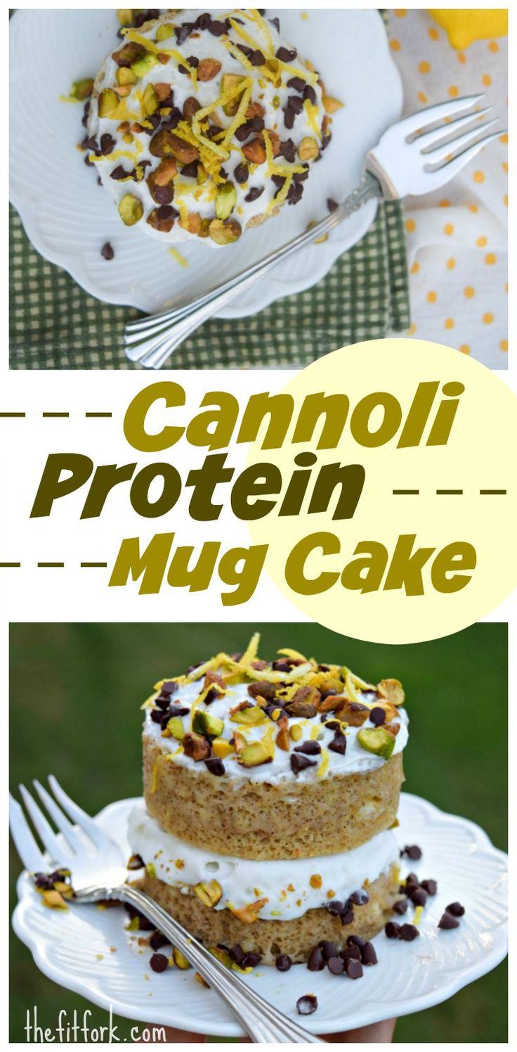 Cannoli protein mug cake recipe protein mug cakes