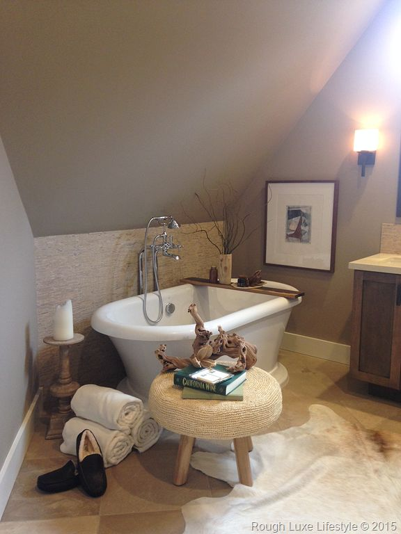 Rough luxe trad home napa valley showhouse bathrooms for Bath remodel napa ca