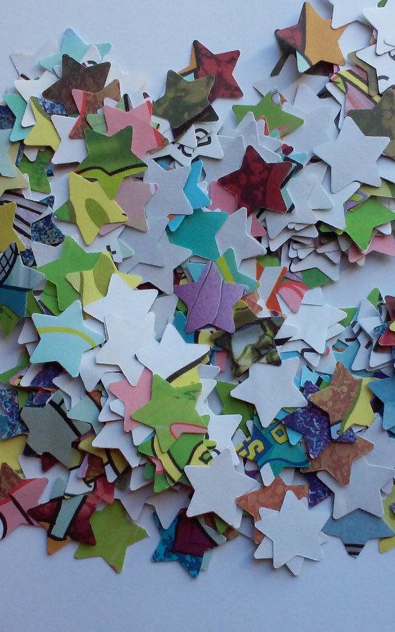 Upcycled, children's book, confetti, storybook confetti, Spongebob book confetti
