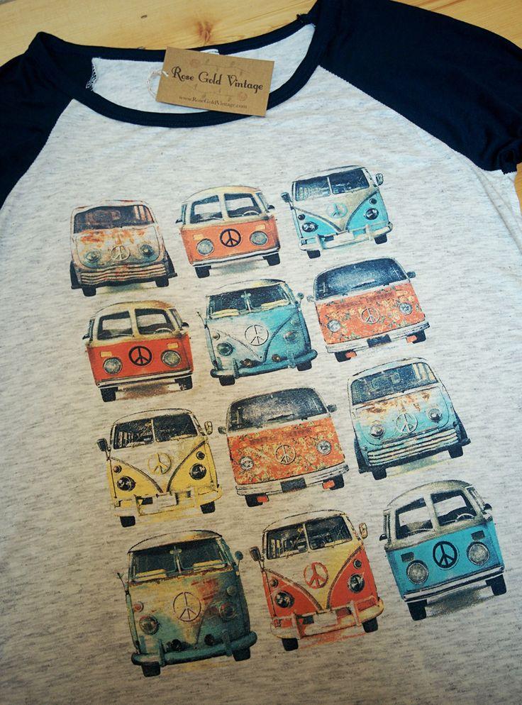 VW Buses Baseball Tee (Ladies)