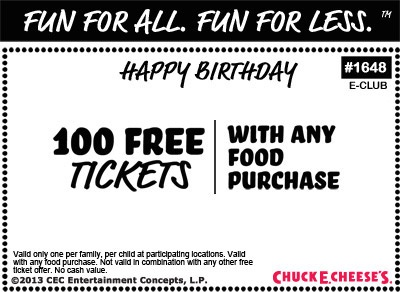 Chuck E. Cheese's - DetailsCash Back · Save Time · Redeem Online · Weekly Coupons.