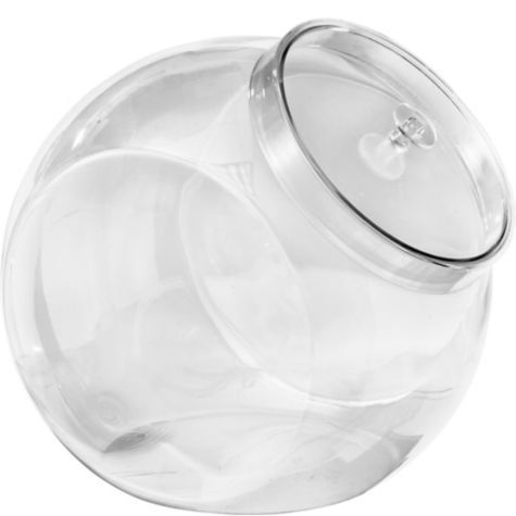 Clear Plastic Candy Jar 7in - Party City