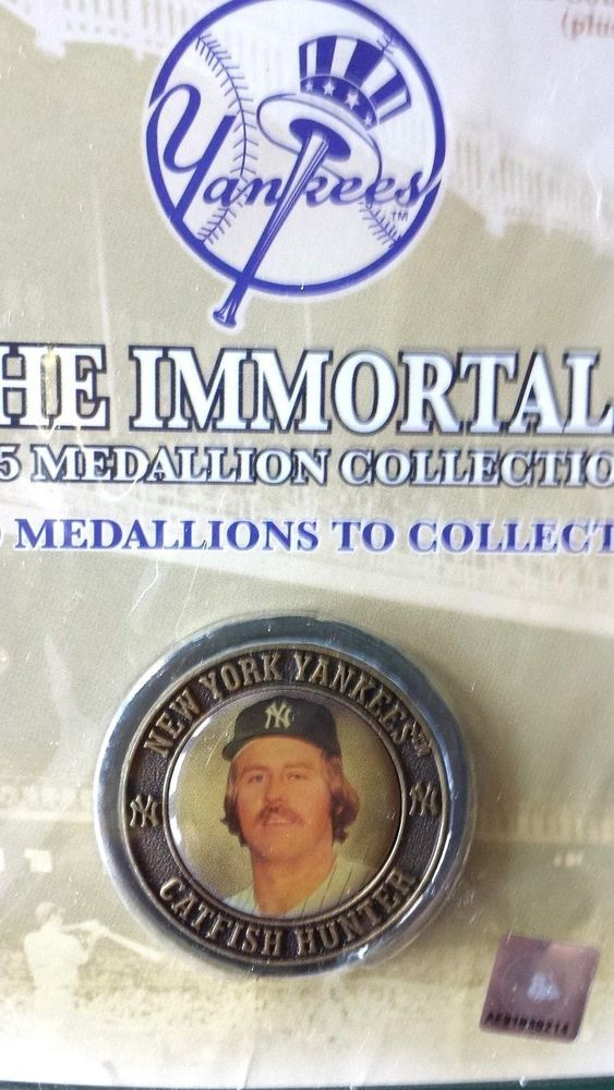 CATFISH HUNTER NY YANKEES,NY POST THE IMMORTALS 2005 MEDALLION , .., COLLECTIBLE #NewYorkYankees