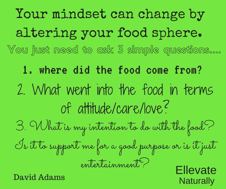 Ask 3 simple question to alter your mindset and your food sphere https://www.facebook.com/ellevatenaturally/photos/a.512672888762584.128986.512666322096574/939777242718811/?type=1&theater