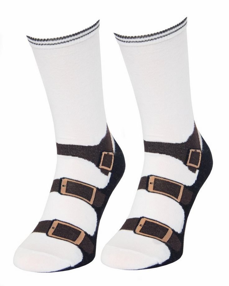 Famous Socks with sandals from legalsocks.com