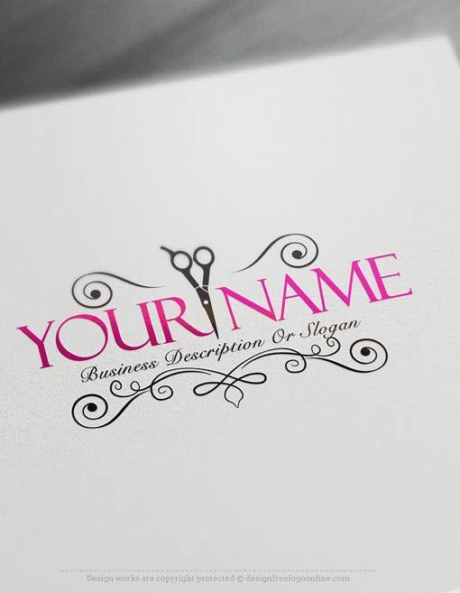 exclusive logo design  hair salon logo images   free
