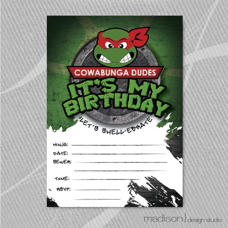 best ideas about ninja turtle invitations on   ninja, party invitations