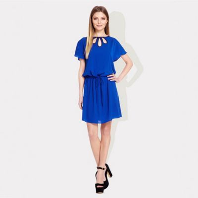Ossie Clark London Colbalt blue tie waist Brunel dress- at Debenhams.ie