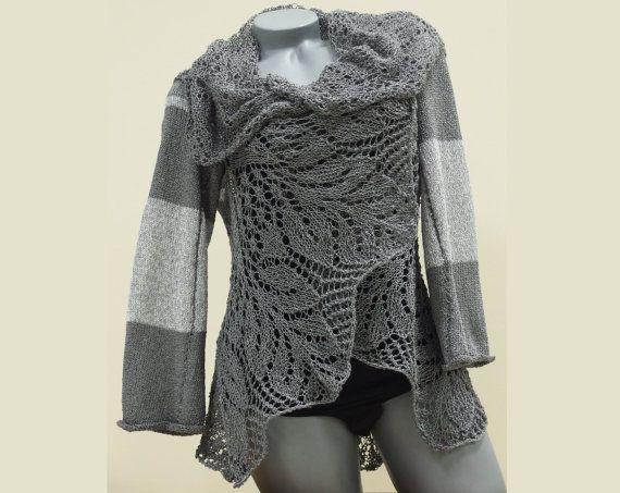 Long crochet women's cardigan Hand knit cardigan by CleopatraArt, €75.00