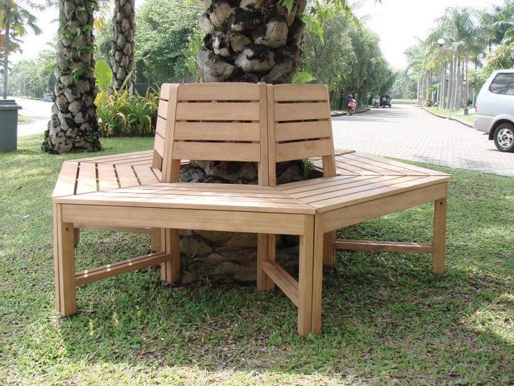 Boom bank is een ronde tuinbank om een boom heen. Mooie boombank nu in de aanbieding voor $360,95 EURO