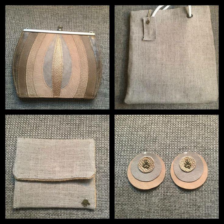 Girlsluck 🍀 make-up tasje met bijpassende brons grijze oorbelletjes. Voor meer info ga naar www.girlsluck.nl