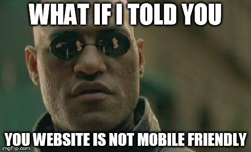 Get your website checked to see if it's mobile friendly. http://www.jigsawconcepts.com.au
