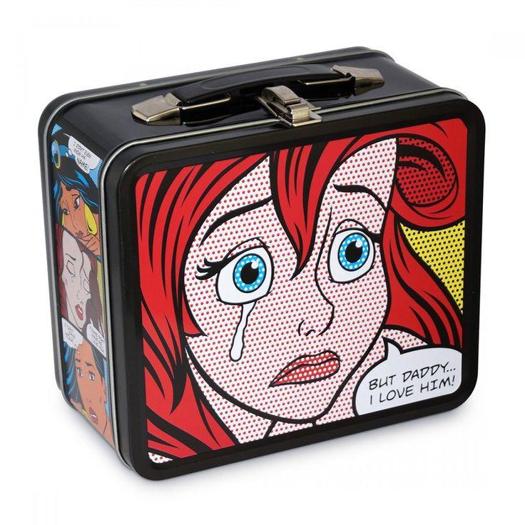 Disney Little Mermaid Metal Lunch Box Comic Strip