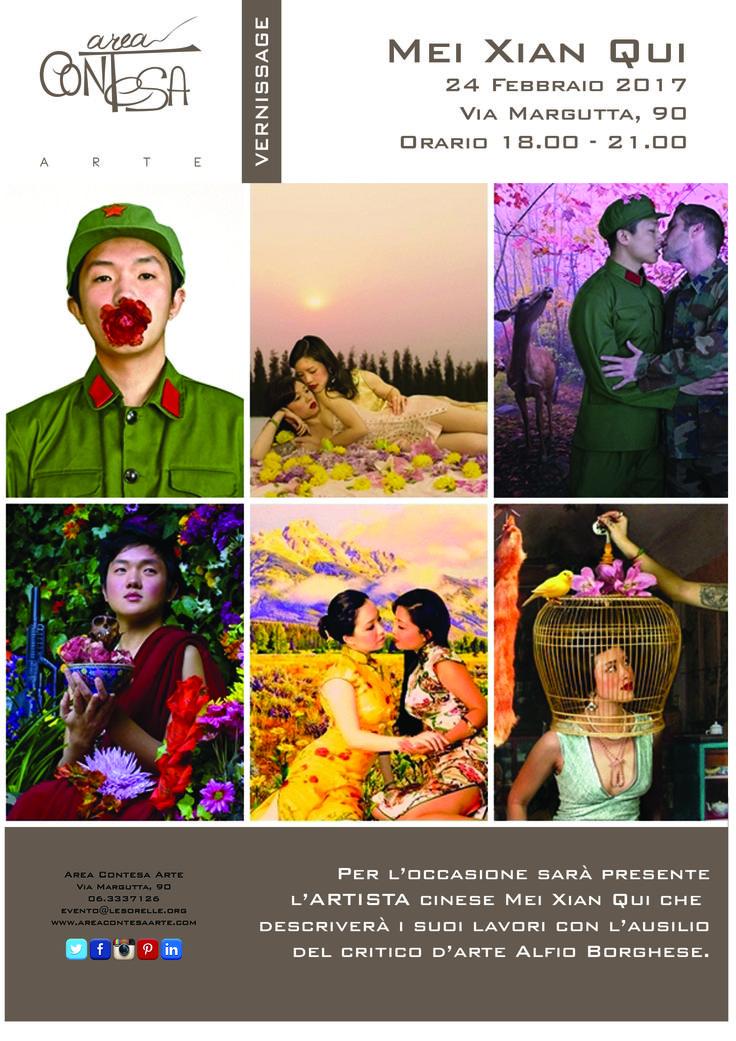 #Areacontesaarte è felice di presentarvi l'artista Mei Xian Qui.  Non perdetevi il #Versinnage da noi il 24 Febbraio! Come sempre dalle ore 18:00 alle ore 21:00. Non mancate.