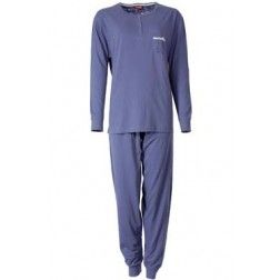 Volledig lichtblauwe dames pyjama