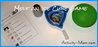 Melt an Ice Cube Game - Such an awesome Science experiment and game in one!