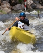 Watch the pro's skillfully navigate our whitewater canoe and kayak course!