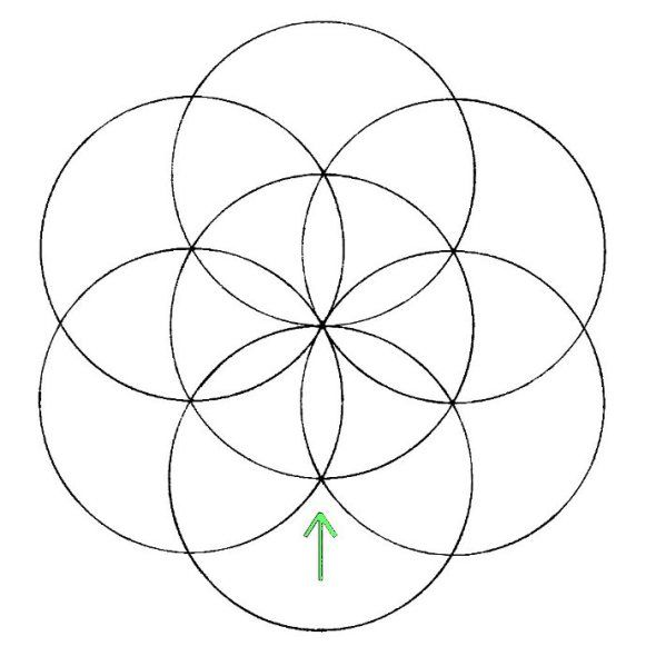 Flower of Life: How to draw- Step 4