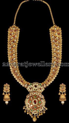 Jewellery Designs: Floral Theme Long Chain