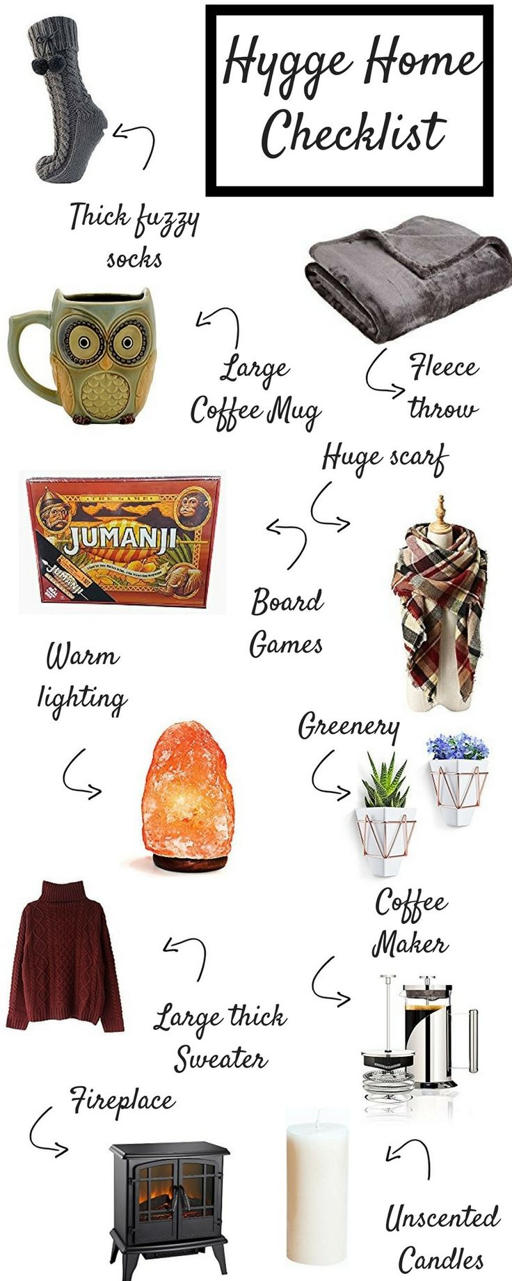 Master the Danish art of living well with this complete checklist of Hygge items. Incorporate Hygge into your home and your life with these inspiring items.