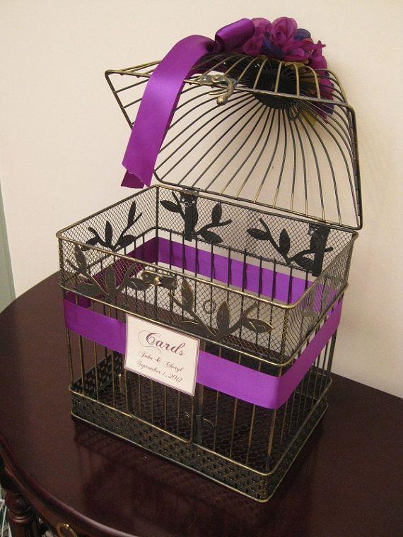 Birdcage cardholder...need to find one at a flea market or garage sale!