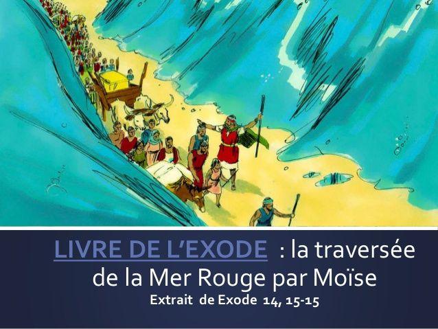 LIVRE DE L'EXODE : la traversée de la Mer Rouge par Moïse Extrait de Exode 14…