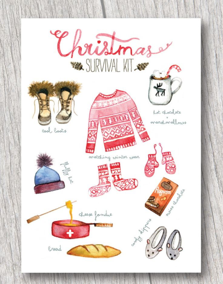 Watercolor Christmas Survival Kit