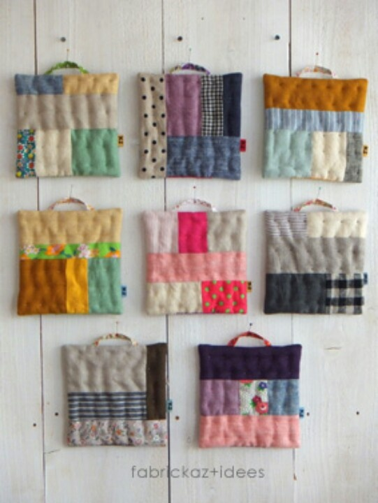 hand stitched pot holders