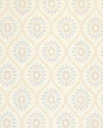 Tapet Brightwell Blue/Cream från Colefax & Fowler