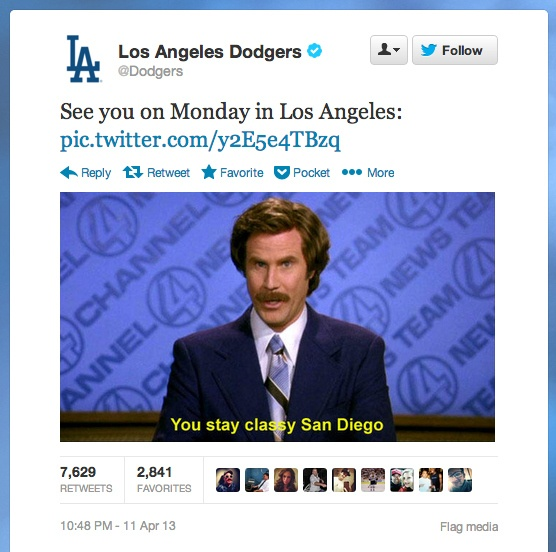 """""""You stay classy, San Diego."""" 