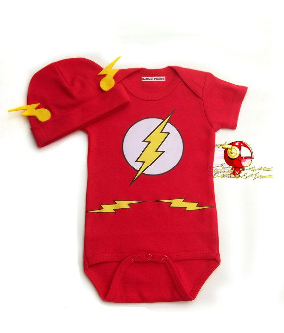The Flash Baby Costume Super Hero Baby by RollieePollieeStudio